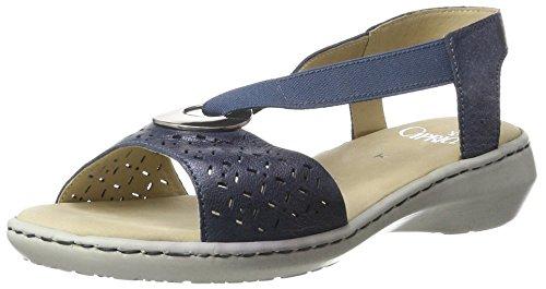 Caprice 28603, Sandalias con Cuña para Mujer Azul (Ocean Metallic)