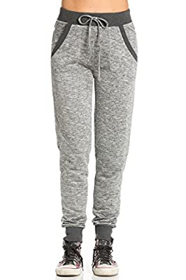 My Yuccie Women's Slim Jogger Sweatpants with Side Pockets