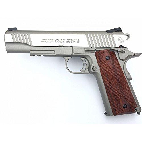 Cybergun Colt 1911 Rail Gun Stainless Co2 Réplique puissance 0.5 joules 1