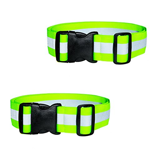 Best2go - 2 Pack - Reflective Glow Belt Safety Gear, Pt Belt, For Running Cycling Walking Marathon Military. by Best2go