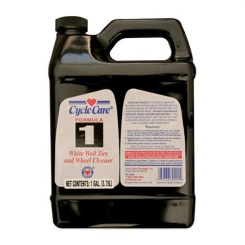 Cycle Care Formula 1 White Wall Tire and Wheel Cleaner 1 Gallon (ea) for Motorcycles (01128)