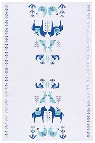 Now Designs Cotton Kitchen Towel, Meadowland Print
