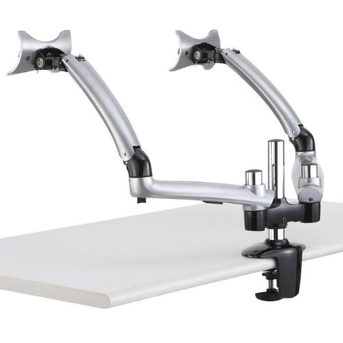 Cotytech Dual Apple Desk Mount Spring Arm Clamp Base - Silver (DM-GS2A-C) by Cotytech