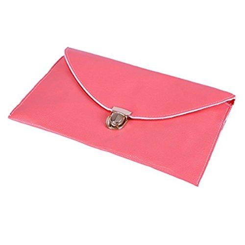 Amaze Fashion Women Handbag Shoulder Bags Envelope Clutch Crossbody Satchel Purse Tote Messenger Leather Lady Bag (Coral) by Amaze (Image #1)