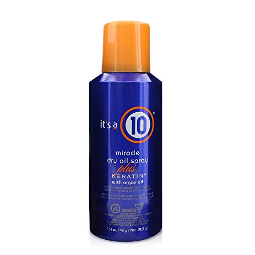 It's a 10 Haircare Miracle Dry Oil Spray Plus Keratin with Argan Oil, 5 fl. oz. (Its A Miracle Dry Oil Spray)