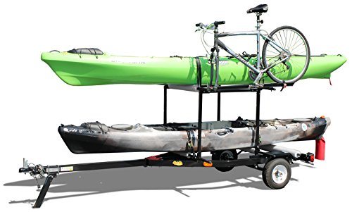 Multi-Sport Rack Trailer for Kayaks, Sups, Canoes, & Bicycles by RIGHT-ON TRAILER