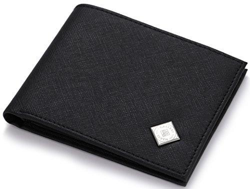 Gallery Seven RFID Blocking Vegan Leather Bifold Slim Wallet in A Gift Box