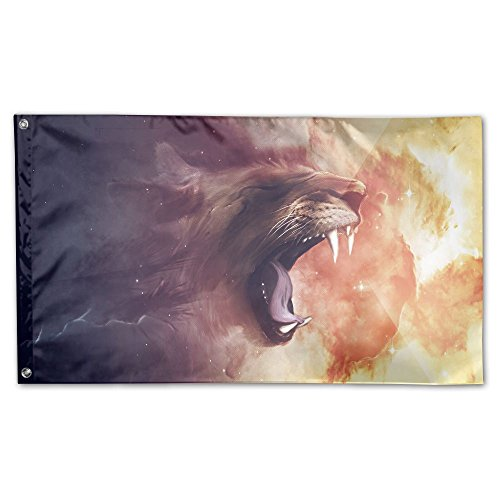 Jmirelife The Lion's Roar Model Garden Flag 59 X 35 Inch Dec