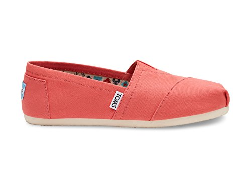 TOMS Womens Classic Linen Rope-Sole Comfortable and Easy-Fit Slip-On Special.coral 5NAlk