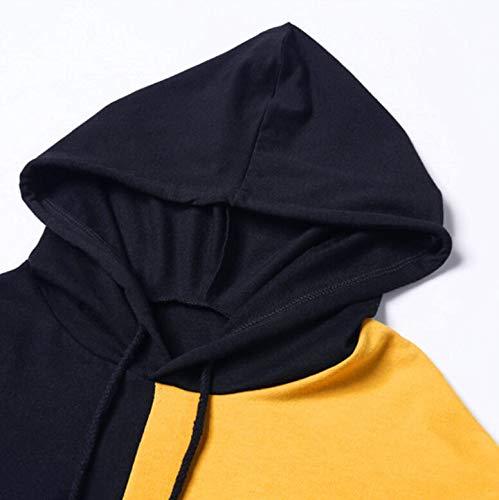 Rambling Women Teen Girls Cropped Hoodies, 2018 Fashion Long Sleeve Patchwork Crop Top Sweatshirt by Rambling (Image #5)