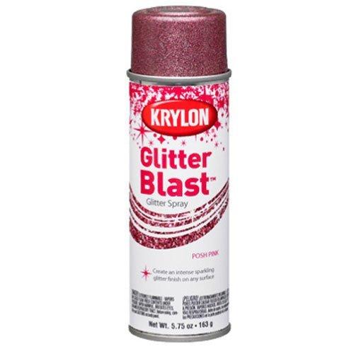 Krylon K03812A00 Glitter Blast, Posh Pink, 5.75 Ounce by Krylon