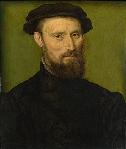 The High Quality Polyster Canvas Of Oil Painting 'Corneille De Lyon - Bust Portrait Of A Man,1534-74' ,size: 20x24 Inch / 51x60 Cm ,this Amazing Art Decorative Canvas Prints Is Fit For Game Room Gallery Art And Home Gallery Art And Gifts