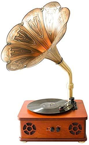 QAZWSX Fonógrafo Reproductor De Música, Retro del Tocadiscos del ...