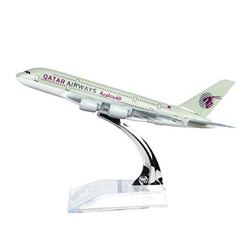 Qatar Airways Company Q C S C  A380 Metal Souvenir Model Airplane