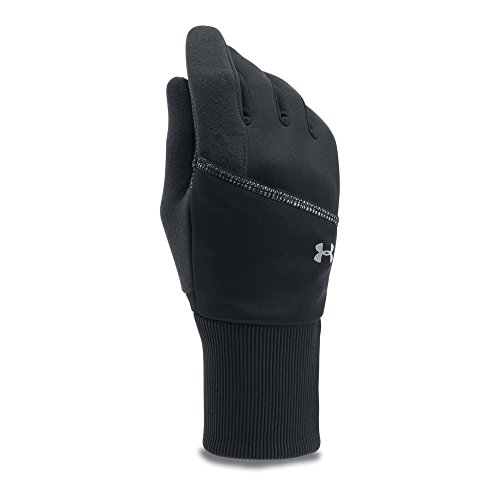 Under Armour Women's Convertible Gloves, Black (001)/Silver, Large