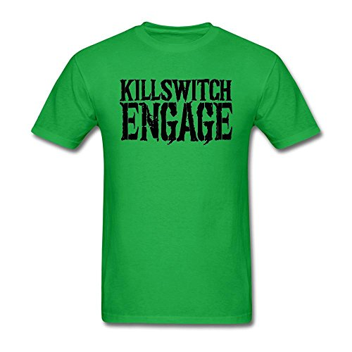 - LSLEEVE Men's Killswitch Engage Logo T-shirts Forest Green M