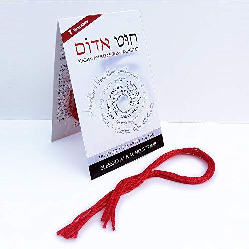 Kabbalah Red String Clothes - 7 Pcs ~ 12