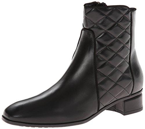 (Aquatalia Women's Latifa Boot,Black Calf/Quilt,6 M)