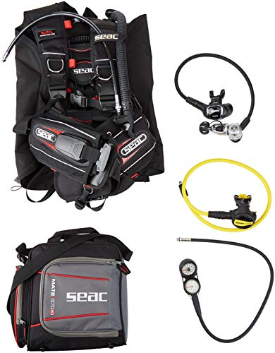 SEAC Nick BC Scuba Regulator Octo Two Gauge Console Dive Gear Package, Small