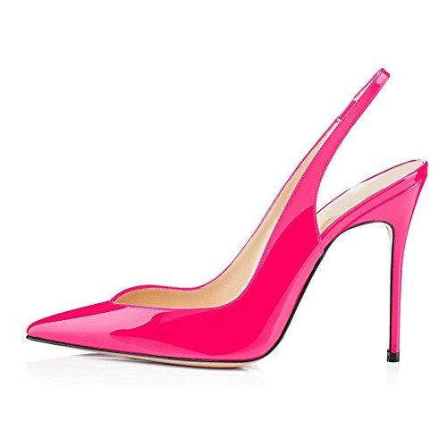 Korkokengät Sandaalit Stiletto cut Pumppuja Juhlakengät Vaaleanpunainen Ilta Naisten Slingback V Hääjuhlissa Umexi cRqfBIwYc