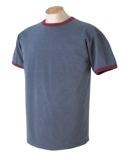 Y auténtico de 1946 5,6 oz para ropa. Para ropa-proceso de teñido de manga corta para chica T-de manga corta de mujer Denim/Red
