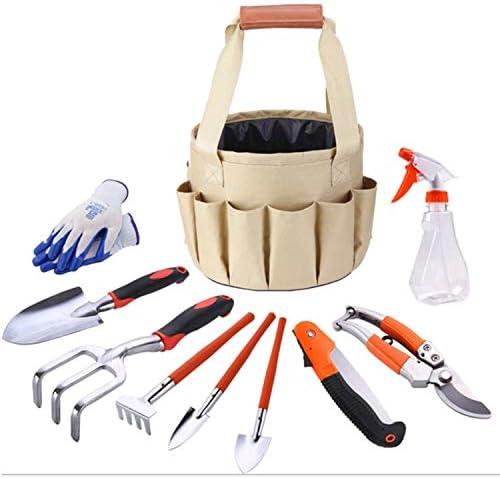 家庭用基本工具 ガーデニングとガーデニングキットキャンバスバッグコンビネーションセットアルミシャベルガーデンはさみバケツバッグ 作業工具