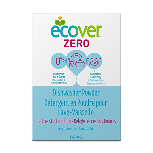 Ecover Zero Dishwasher Soap Powder, 48 Ounce (Pack 8)