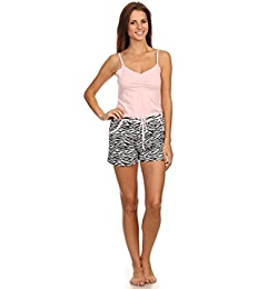 Womens Two Piece Sleepwear Tank Top Cami Pajama Set with Shorts & Long Pants at Amazon Womens Clothing store: