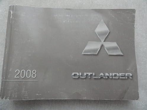 2008 mitsubishi outlander owners manual mitsubishi amazon com books rh amazon com mitsubishi outlander 2008 service manual pdf owners manual mitsubishi outlander 2008