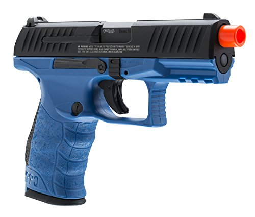 T4E Airsoft Walther PPQ LE Police Trainer Pistol Blue/Black GBB gas blowback Black Gas Pistol