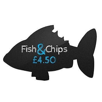 Kreidetafel Silhouette Fisch Form Frei Kreide Marker Weiß