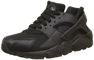 Nike Boys Huarache Run (GS) Shoes, Black/Black-Black, 35 1/2 EU (3.5 AU)