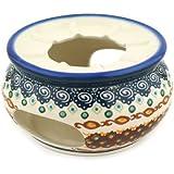 Polish Pottery Heater 5-inch Artichoke Heart UNIKAT