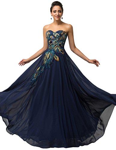 Vestidos de fiesta noche azul marino