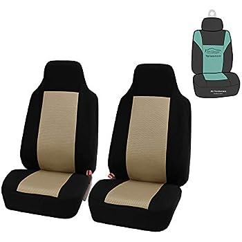 Fits Select Vehicles Car Truck Van SUV Motorup America High Back Black Auto Seat Cover
