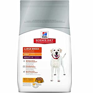 Hill's Science Diet Adult Large Breed Light with Chicken Meal & Barley Dry Dog Food, 17.5-Pound Bag