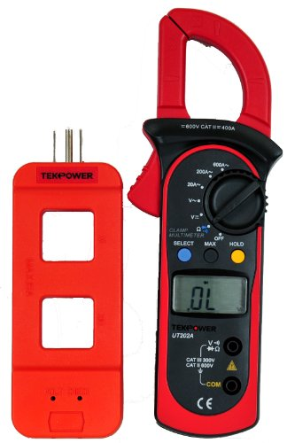 Tekpower UT202A (Uni-Trend) Auto-ranging AC 600 Amp Clamp Meter with Tekpower Line Splitter M920