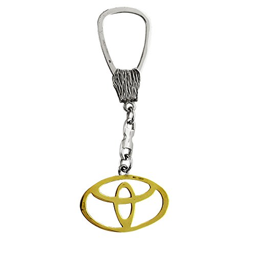 Silver Keychain For Toyota - Unique Key ring - Solid Sterling Silver - Gift for Men by Sribnyk - Gallery of Silver Art