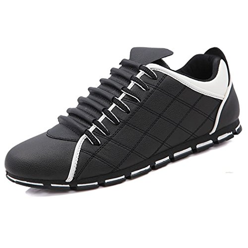 Sneakers Basse Da Uomo Casual In Pelle Nera Casual