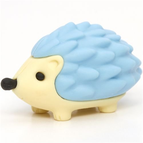 Iwako Blue Hedgehog Eraser By From Japan
