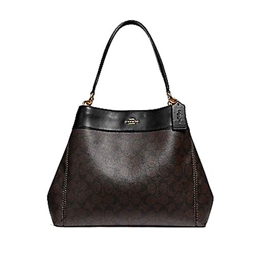 COACH Lexy Shoulder Bag in Signature (Brown/Black) ()