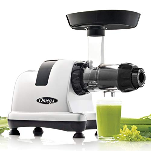 Omega MM MM900HDS MM Low Speed Masticating Celery Juicer, 200W, Silver