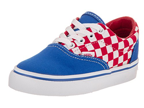 Vans Toddlers Era (Checkerboard) Racing Red Skate Shoe 8.5 Infants (Era Checkerboard)