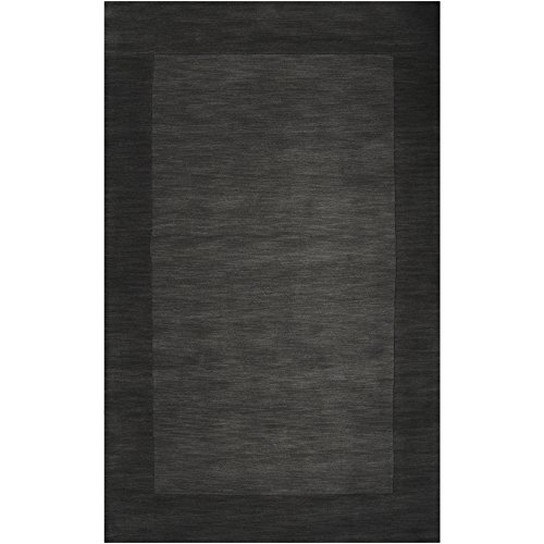 Mystique Charcoal Rug (Surya Mystique M-347 Transitional Hand Loomed 100% Wool Jet Black 2' x 3' Accent Rug)