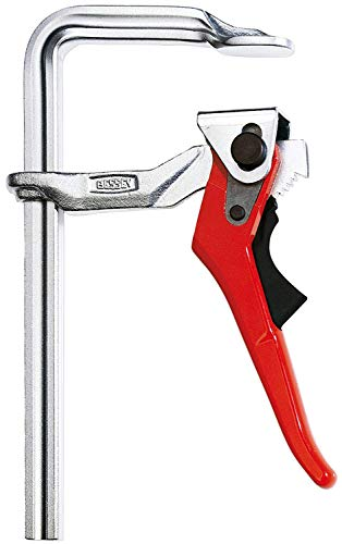 Bessey GSH20 Lever Clamp Classix Gsh 7.87In/3.94In, Silver/Red