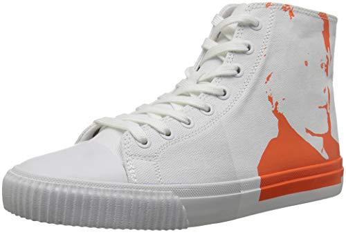 Sneaker Iconica Klein Calvin White Orange Women's P8Axq