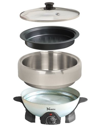 2.0 Qt NEC-202B Electric Shabu Shabu and Grill For Traveling , Party By C&H Solutions