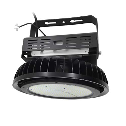 Adiding LED High Bay Light,400W UFO Hi-Bay Lighting(1600W HID/HPS Equivalent) 52000 Lumens 130Lm/W Meanwell Driver Dimmable 5000K,Lumileds SMD 3030 LED for Garage Warehouse,UL Listed,IP65-Black -