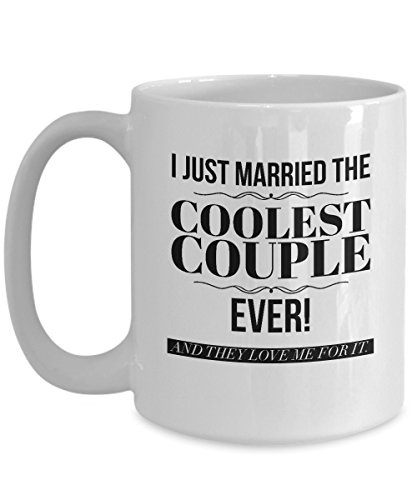 Wedding Officiant Mug - I Just Married the Coolest Couple Ever - Funny Gift Mug for Reverend | Pastor | Minister | Priest | Preacher - They Will Laugh and Love It! - Large 15 oz Size