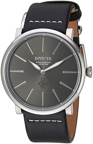 Invicta Men s I-Force Stainless Steel Quartz Watch with Leather Calfskin Strap, Black, 24 Model 22930